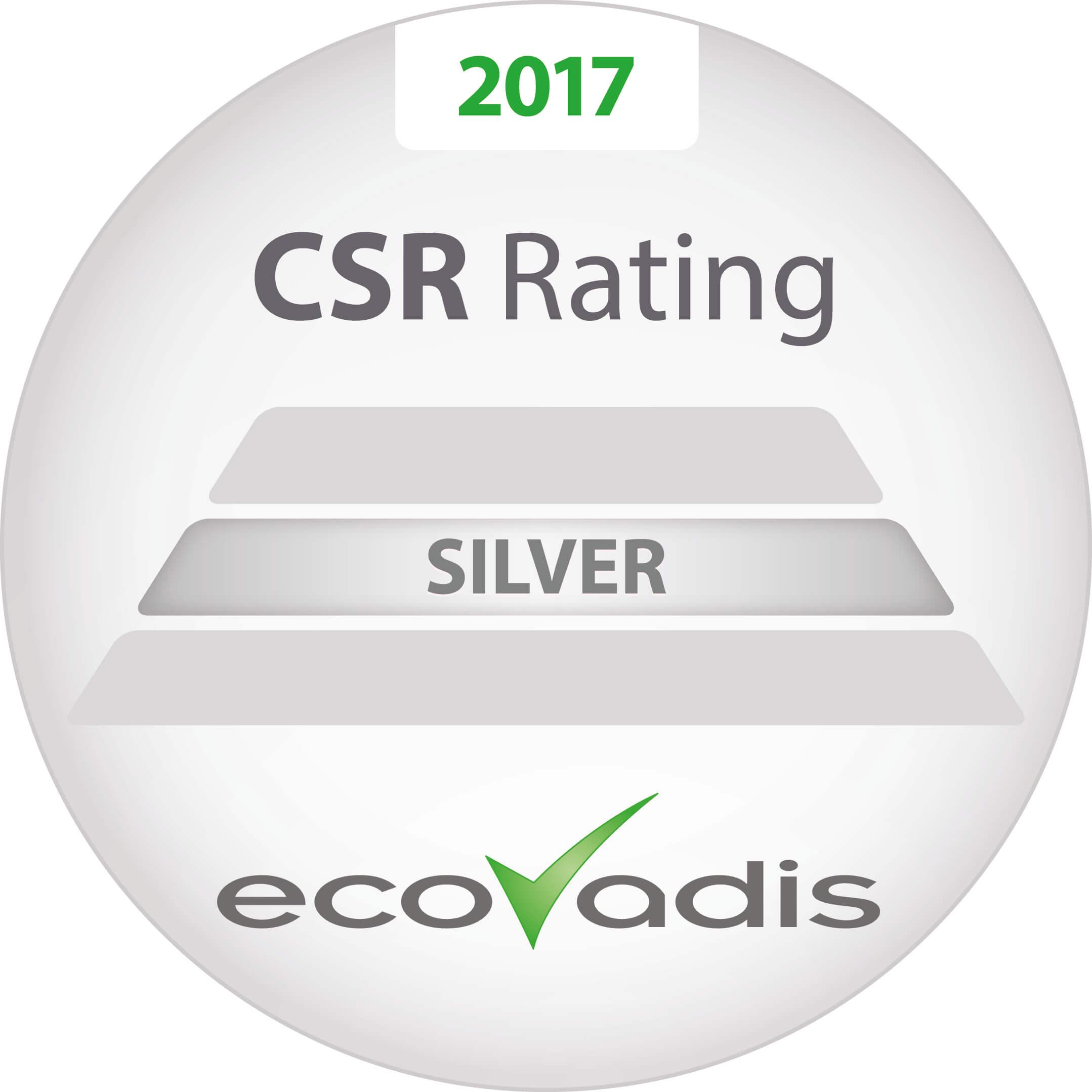 CSR EcoVadis Silver