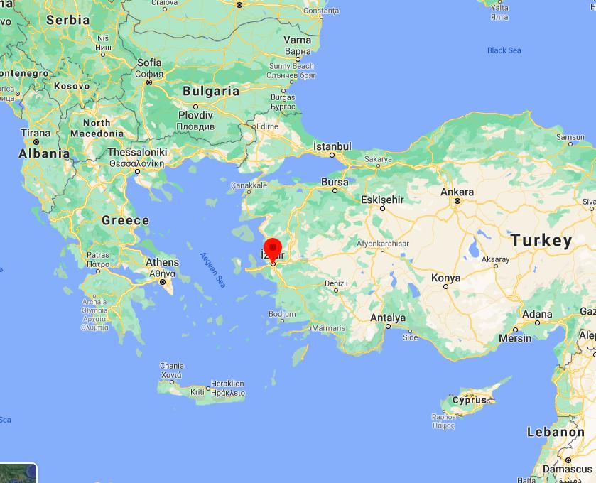 Of izmir turkey map Izmir metro
